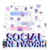 réseau social de mot entreprise vecteur