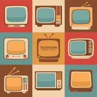 Télévision rétro vecteur