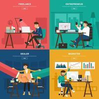 illustration de compétences de travail de marketing numérique vecteur