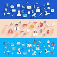 bannière illustrations santé et médecine vecteur