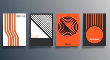 conception minimale géométrique pour flyer, affiche, couverture de brochure, arrière-plan, papier peint, typographie ou autres produits d'impression. illustration vectorielle vecteur