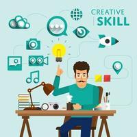 emploi de compétences créatives vecteur