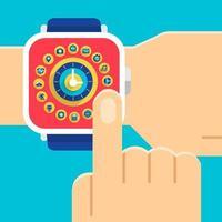 concept de smartwatch illustrent vecteur