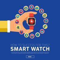 concept d & # 39; illustrations smartwatch vecteur