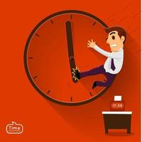 illustrations de chronologie de travail vecteur