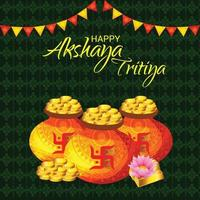 bannière de célébration du festival akshaya tritiya vecteur