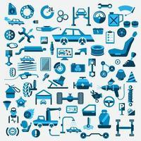 service de voitures icon set vecteur