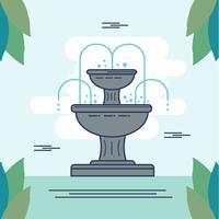 Vecteur d'illustration de fontaine