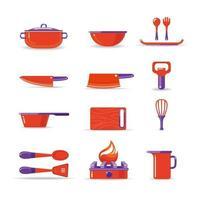définir l'icône de vecteur de cuisson