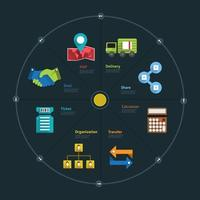 icônes d & # 39; affaires infographiques vecteur