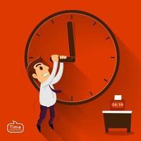 chronologie de l & # 39; homme d & # 39; affaires travaillant vecteur