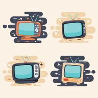 Ensemble de télévision rétro vecteur