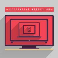 illustrations de conception web responsive vecteur