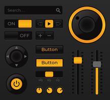 Éléments de l'interface utilisateur de la musique audio vecteur