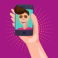 Vecteurs de selfie exceptionnels vecteur