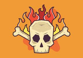 Crâne enflammé vecteur