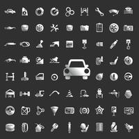 définir le service de voitures icône vecteur