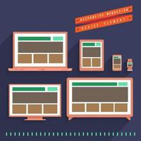 concept de design web réactif vecteur