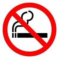 Aucun signe de symbole de fumer isoler sur fond blanc, illustration vectorielle eps.10 vecteur