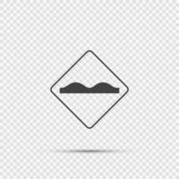 signe de surface de route inégale sur fond transparent vecteur