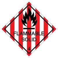 Signe de symbole solide inflammable isoler sur fond blanc, illustration vectorielle eps.10 vecteur