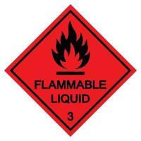 Signe de symbole de liquide inflammable isoler sur fond blanc, illustration vectorielle eps.10 vecteur