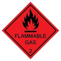Signe de symbole de gaz inflammable isoler sur fond blanc, illustration vectorielle eps.10 vecteur