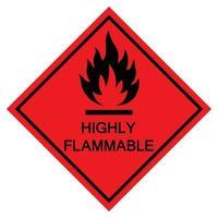 Signe de symbole hautement inflammable isoler sur fond blanc, illustration vectorielle eps.10 vecteur