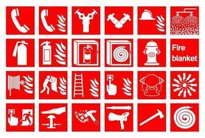 symbole d & # 39; alarme incendie d & # 39; urgence isoler sur fond blanc, illustration vectorielle vecteur
