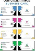 modèle prêt à imprimer de carte de visite d'entreprise moderne Webminimal. modèle de conception de carte de visite plat simple et propre vecteur