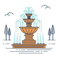 Vecteur de fontaine