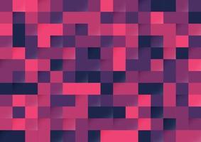 Abstrait violet et rose couleur pixel fond transparent. modèle de style moderne. vecteur