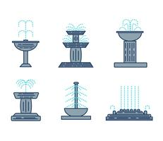 Set de vecteur de fontaine