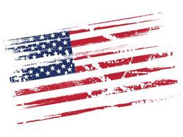 Vecteur de drapeau américain grungy