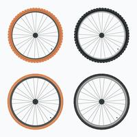 Vecteur de pneu de vélo