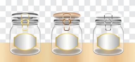 bocaux en verre transparent vecteur