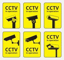 Images vectorielles de caméra CCTV vecteur