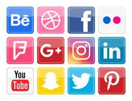 Icônes vectorielles de médias sociaux