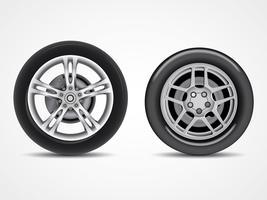 Vecteurs de pneus vecteur