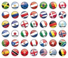 Vecteurs de drapeau du monde vecteur