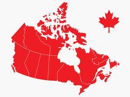 Carte vectorielle de la fête du Canada vecteur
