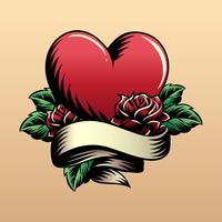 Vecteur de tatouage de coeur