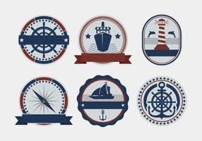 Badges de vecteur nautiques
