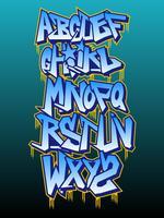 Beaux vecteurs de l'alphabet Graffiti vecteur