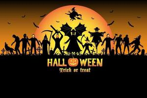 ensemble de tueur en série zombie monstre halloween vecteur