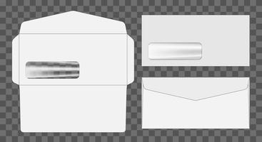 enveloppe die cut maquette illustration vectorielle de modèle. vecteur