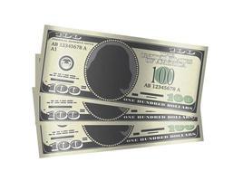 Argent de billets de 100 dollars sur fond blanc vecteur