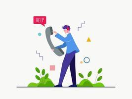 aider le client par appel vecteur