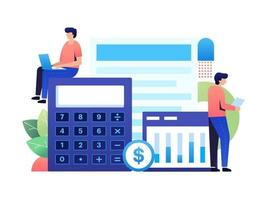 travailler comme comptable vecteur