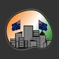 modèle de conception joyeux jour de l'australie 26 janvier. jour de l'indépendance vecteur